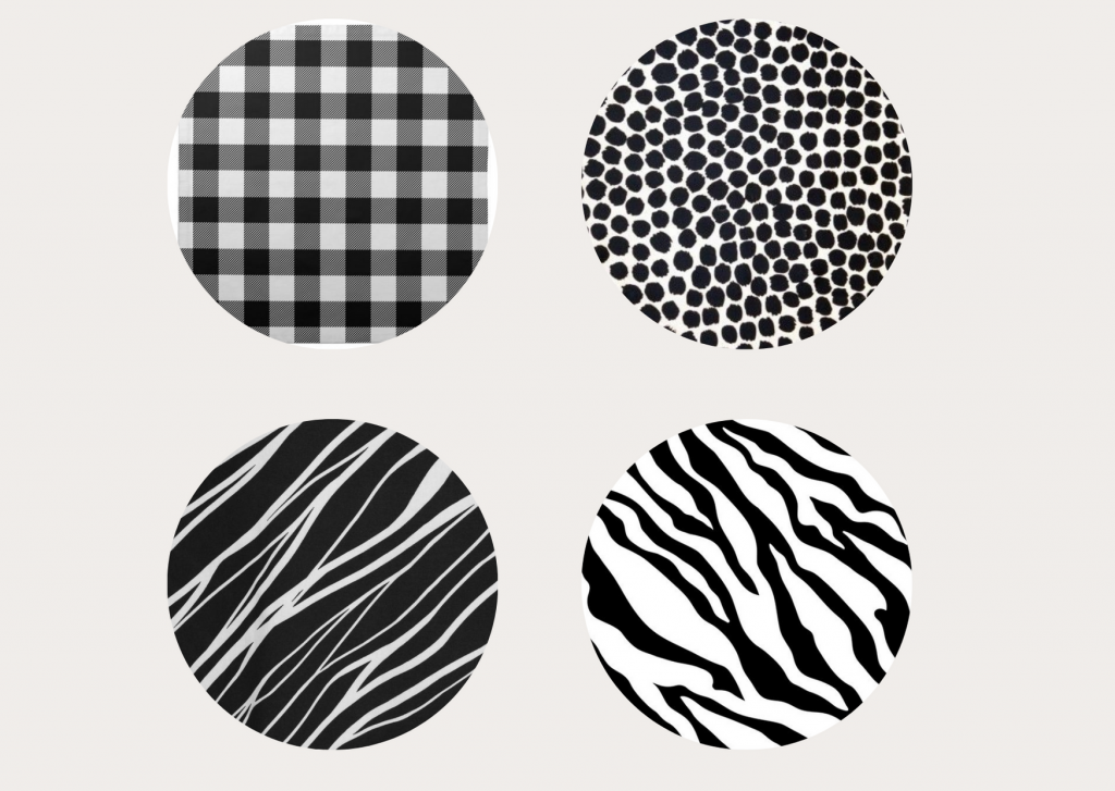 wzory czarno-białe
