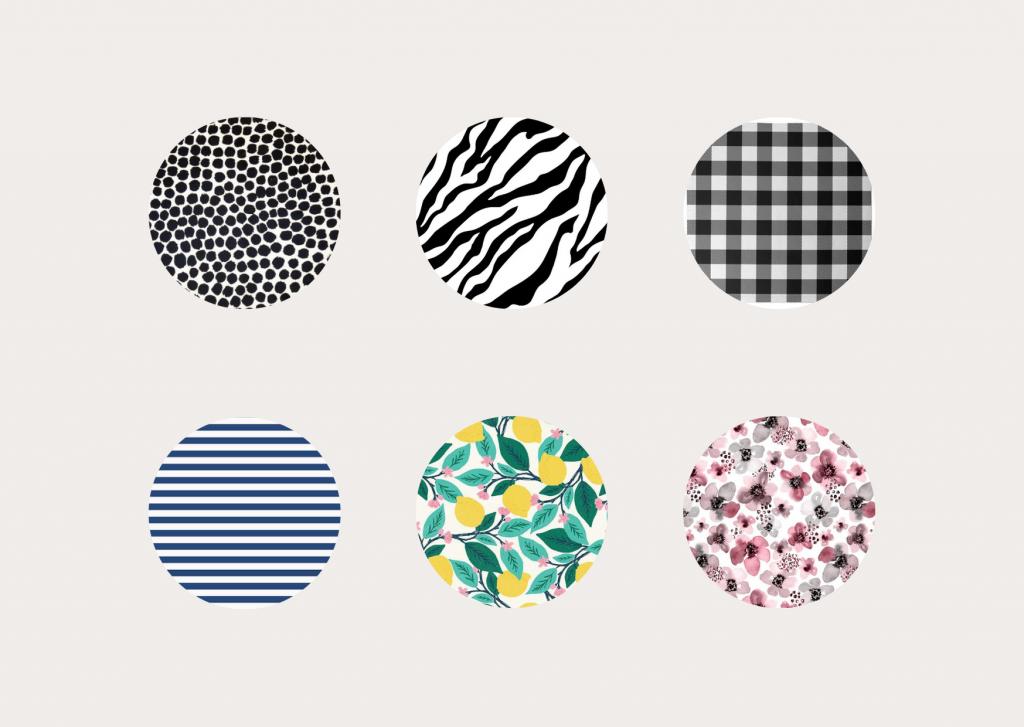 wzory czarno-białe + kolor