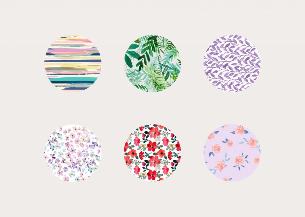 łącz wzory wybierając jeden dominujący kolor